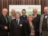 v.l. Dr. Henning Ehlers (DRV), Bernd Winkler (Agrargenossenschaft Kropstädt eG), Stephan Becker-Sonnenschein (Die Lebensmittelwirtschaft e.V.), Prof. Dr. Achim Spiller (Universität Göttingen), Silke Schwartau (Verbraucherzentrale), Manfred Nüssel (DRV), Prof. Dr. Dr. Andreas Hensel (BfR)