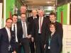 Vertreter des Vorstandes und Aufsichtsrates der Westfleisch SCE mbH am Tiertransport - v.l.n.r.: Christian Leding, Carsten Schruck, Peter Piekenbrock, Stefan Nießing (Vorstand AgriV), Josef Lehmenkühler, Dirk Niederstucke, Gerhard Meierzuherde sowie Dr. Verena Schütz (DRV)