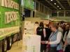 Besucher der Grünen Woche nahmen das vielfältige Informationsangebot zum Tiertransport an