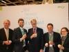 v.l.n.r. Dr. Amberger (FORUM), Kraus (BMI), Bartsch (Vorsitzender der LINKE), Hoh (BMI), Dr. Schütz (DRV)