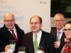 v.l.n.r.: Bundesminister Peter Altmaier, Bundesminister Christian Schmidt, Dr. Ehlers (Hauptgeschäftsführer DRV), Lea Fließ (Forum Moderne Landwirtschaft e.V.)