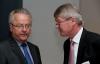 Hans-Josef Hilgers (Vorstandsvorsitzender der Raiffeisen Waren-Zentrale Rhein-Main eG) und Wolfgang Kirsch (Vorstandsvorsitzender der DZ Bank) im Gespräch
