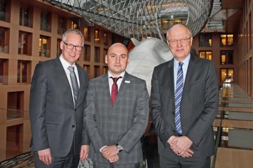 v.l.n.r.: Dr. Henning Ehlers; Vassil Groudev; Dr. Volker Petersen