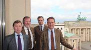 v.r.n.l.: Guido Seedler (DRV), Guy Gagen und Michael Humbly (NFU – UK); Max Schulman (MTK – Fi)