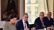 Gitta Connemann, MdB (Stellv. Fraktionsvorsitzende CDU/CSU), DRV-Präsident Franz-Josef Holzenkamp, HGF Dr. Henning Ehlers, DRV-Ehrenpräsident Manfred Nüssel